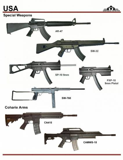 США: Special Weapons AR-47, SW-32, SP-10, ...